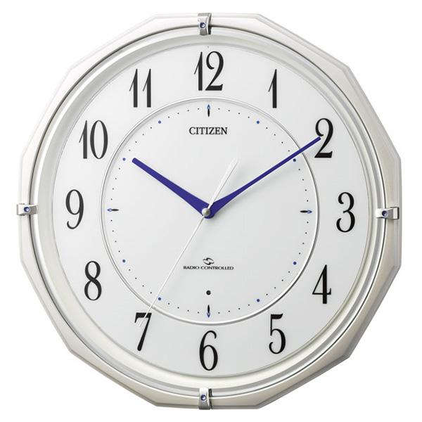 クロック シチズン 掛時計 電波 ステップ秒針 スリーウェイブ機能 スリーウェイブM822 4MY822-003 時計