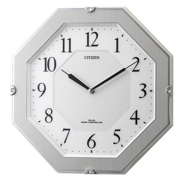 クロック シチズン 掛時計 電波 ソーラー 薄型 二針式 サイレントソーラーM826 4MY826-004 時計