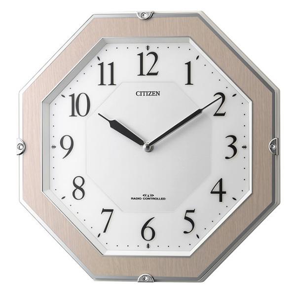 クロック シチズン 掛時計 電波 ソーラー 薄型 二針式 サイレントソーラーM826 4MY826-013 時計