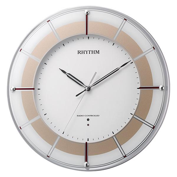 クロック リズム スリーウェイブM843 掛け時計 4MY843SR18 RHYTHM 時計