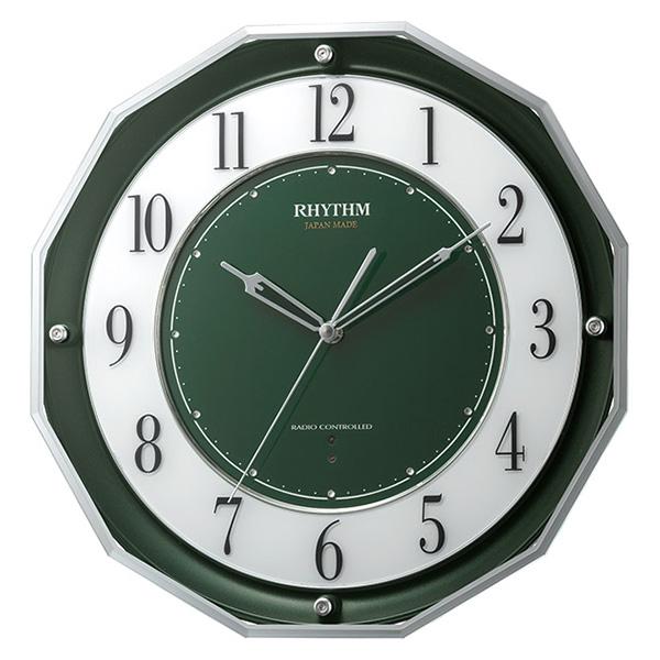 クロック リズム スリーウェイブM846 掛け時計 4MY846SR05 RHYTHM 時計