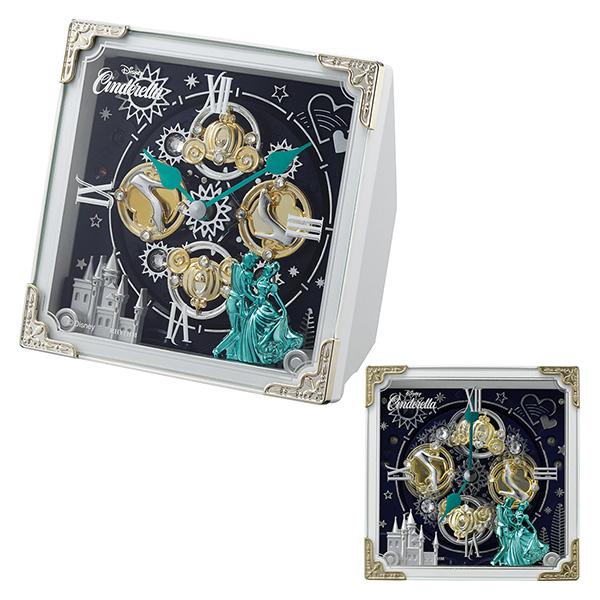 クロック ディズニー シンデレラ からくり 置き時計 4RH784MC03 Disney 時計