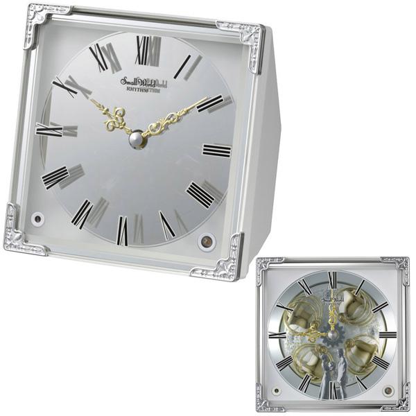 クロック リズム 置時計 クオーツ オーロラサウンドメロディ 4RH785RH03 RHYTHM 時計