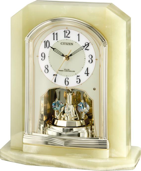 シチズン 置時計 オニックス 電波 パルラフィーネR691 4RY691-005 時計