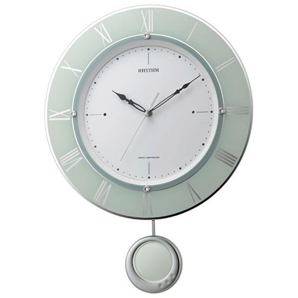 クロック リズム 掛時計 電波 振り子飾り 8MX402SR05 RHYTHM 時計