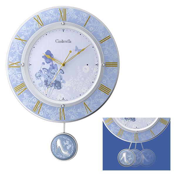 クロック ディズニー シンデレラ 掛け時計 8MX406MC04 Disney 時計