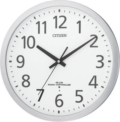 シチズン 掛時計 電波 連続秒針 オフィス 事務所 スペイシーM462 8MY462-019 時計