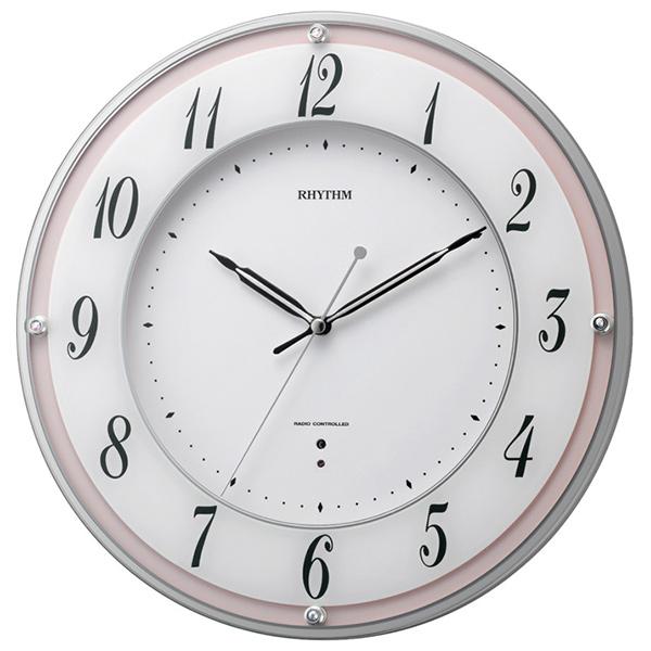 クロック リズム 掛時計 電波 8MY498SR13 RHYTHM 時計
