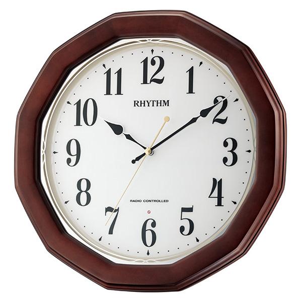 クロック リズム フィットウェーブハンナ 掛け時計 8MY505SR06 RHYTHM 時計