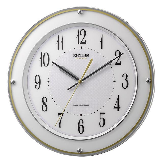 クロック リズム ミレディサヤカ 電波 掛時計 8MY510SR03 RHYTHM 時計