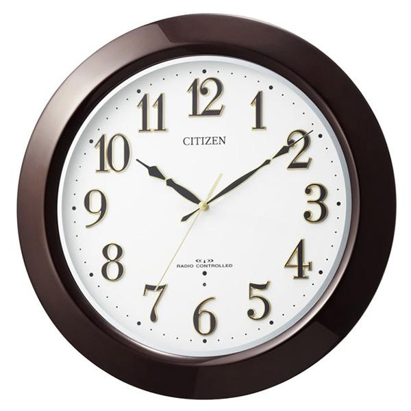 クロック シチズン 掛時計 電波 ネムリーナマロード 木枠 ブラウン 8MYA18-006 時計