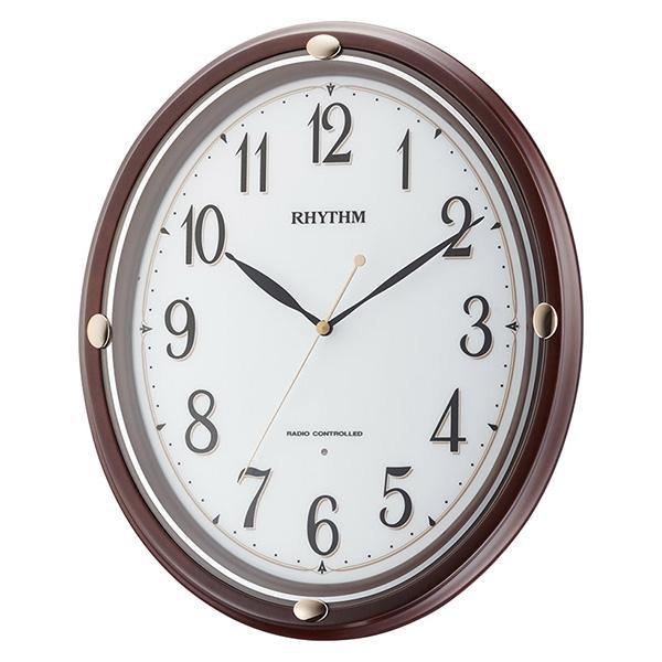 クロック リズム フィットウェーブプリシラ 掛け時計 8MYA28SR06 RHYTHM 時計