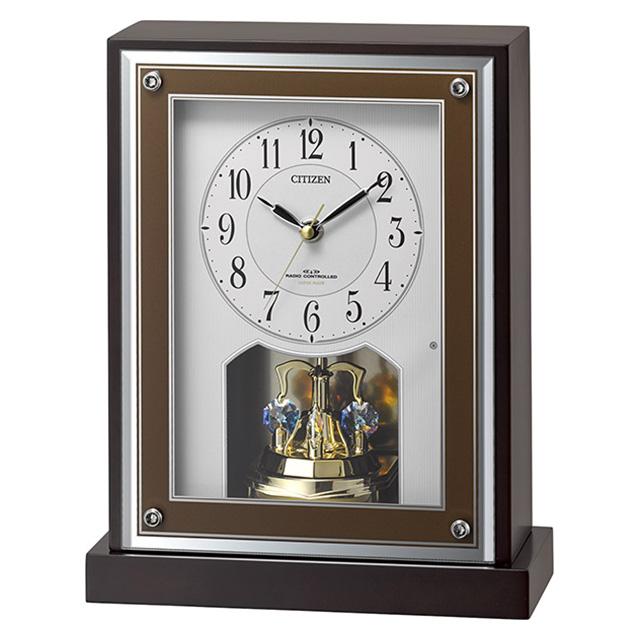 クロック シチズン 電波 置時計 8RY413-006 からくり時計 CITIZEN 時計