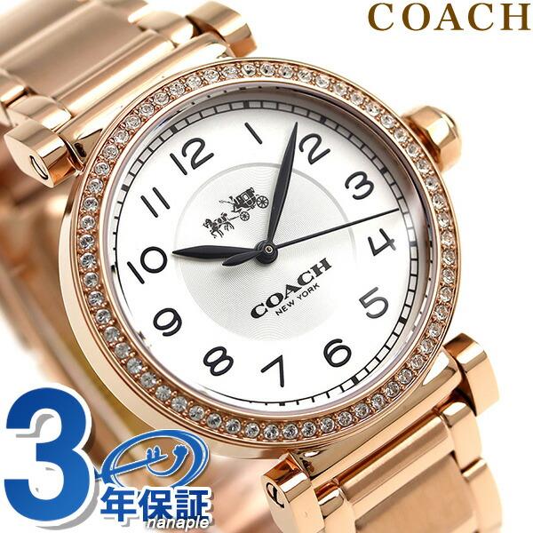24590ab5fd0f レディース マディソン 腕時計 COACH コーチ 14502401 シルバー×ローズゴールド