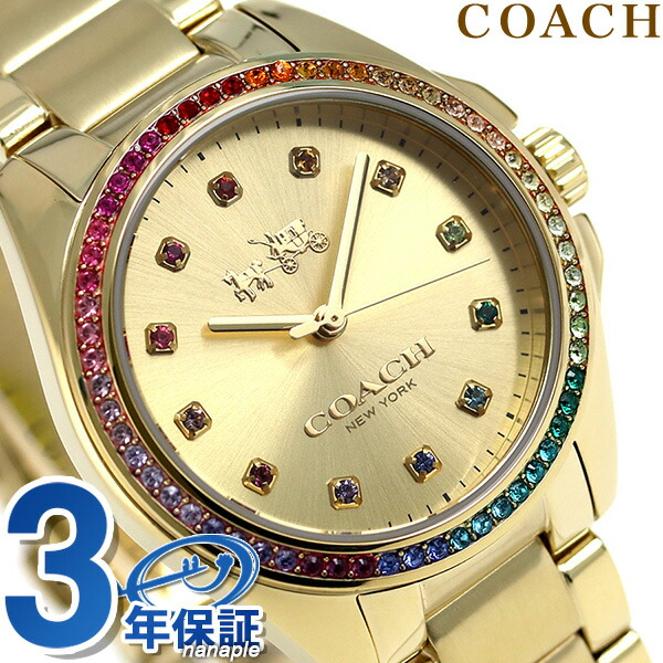 コーチ 時計 レディース COACH 腕時計 トリステン クオーツ 14502507 ゴールド