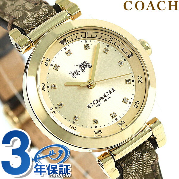 コーチ 時計 レディース COACH 腕時計 1941 スポーツ 30mm クオーツ 14502539 ゴールド【あす楽対応】