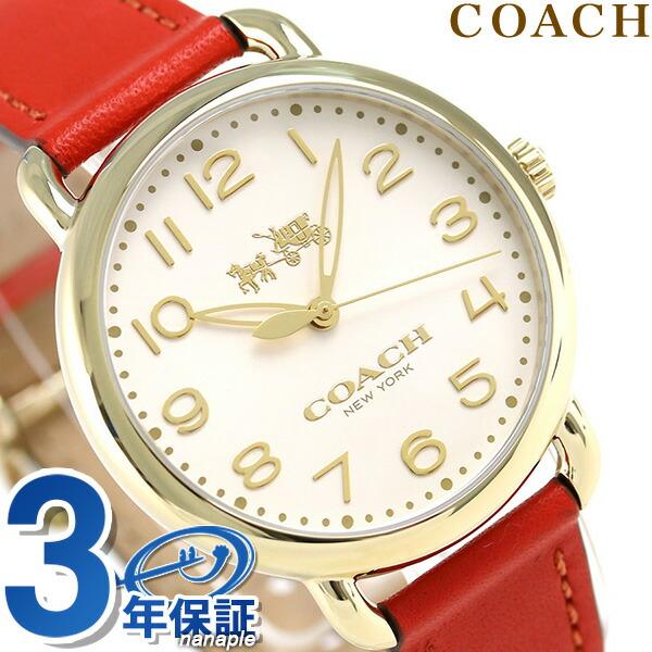 コーチ 時計 レディース COACH 腕時計 デランシー 36mm クオーツ 14502719 オレンジ【あす楽対応】