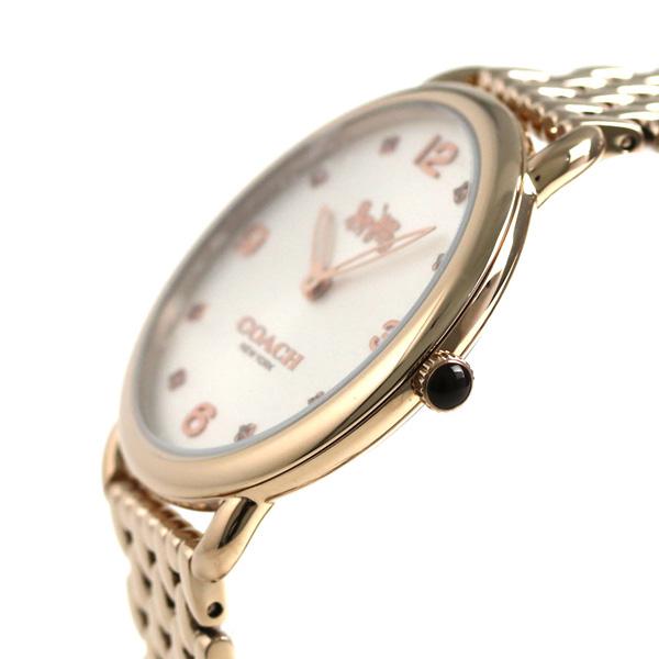 fc60b73623ce コーチ 時計 レディース COACH 腕時計 デランシー スリム 36mm 14502787 シルバー×ピンクゴールド