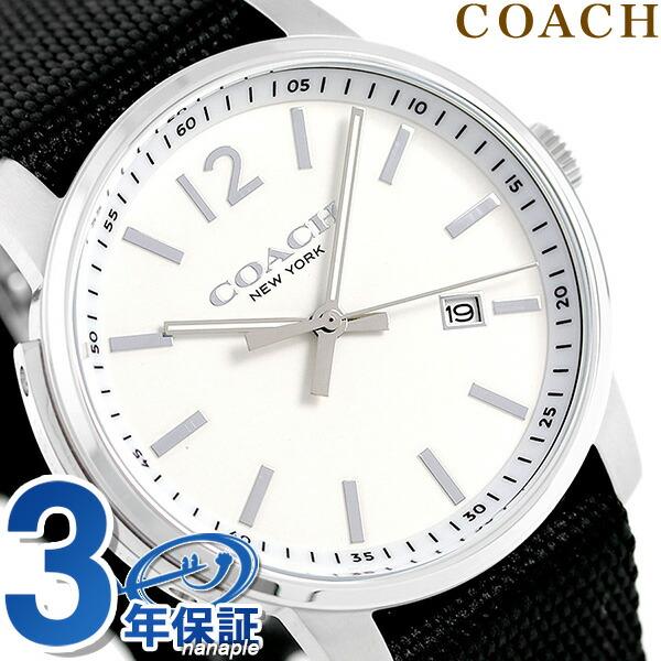 コーチ 時計 メンズ COACH 腕時計 ブリーカー 42mm 替えベルト付き 14602054 ホワイト【あす楽対応】