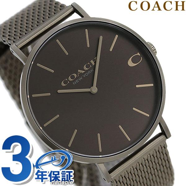 9ff7adde33cdc Coach COACH clock men 41mm mesh belt 14602147 Charles Brown X bronze watch