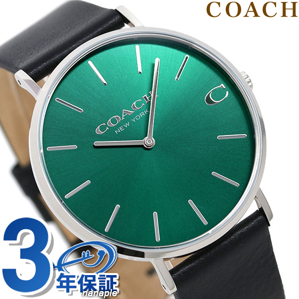 コーチ 時計 チャールズ 41mm メンズ 腕時計 14602436 COACH グリーン×ブラック【あす楽対応】