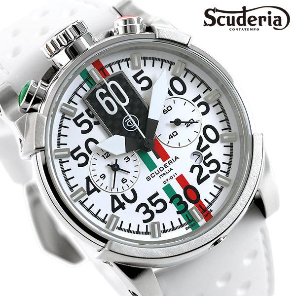 CT スクーデリア 時計 サトゥルノ 日本限定モデル メンズ 腕時計 CWEG00719 CT SCUDERIA ホワイト【あす楽対応】