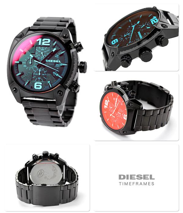DZ4316 diesel overflow chronograph quartz DIESEL mens watch black P19Jul15
