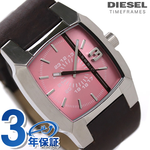 DZ5100 diesel Lady's watch brown leather X pink DIESEL