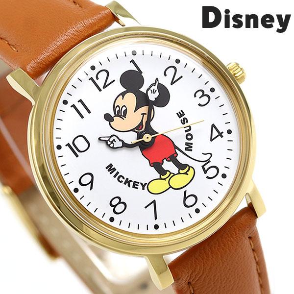 ディズニー ミッキーマウス 34mm クオーツ M34-WH-LBR ユニセックス 腕時計 Disney 時計