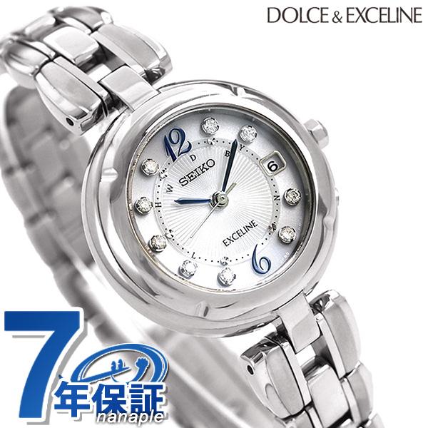 セイコー ドルチェ&エクセリーヌ 日本製 電波ソーラー SWCW121 SEIKO 腕時計 チタン シルバー 時計