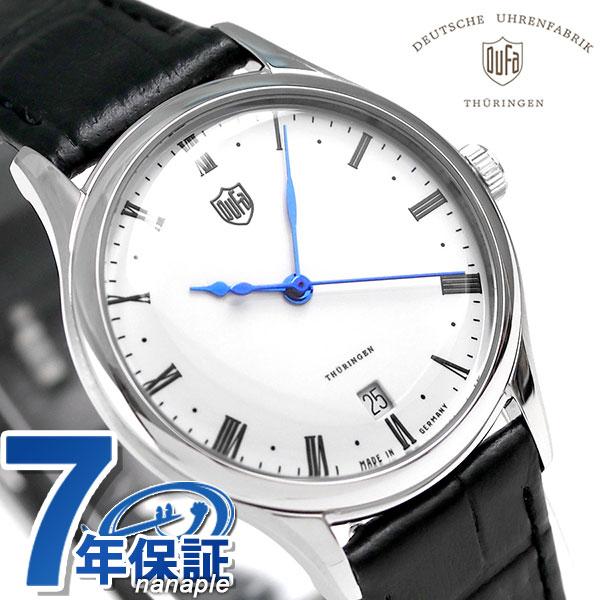 店内ポイント最大43倍!16日1時59分まで! DUFA ドゥッファ ヴァイマール 32mm ドイツ製 レディース DF-7006-02 腕時計 ホワイト×ブラック 時計