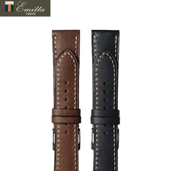 交換用ベルト エミッタ ブッテーロ 18mm 20mm 22mm 手縫い 革ベルト 腕時計 Emitta