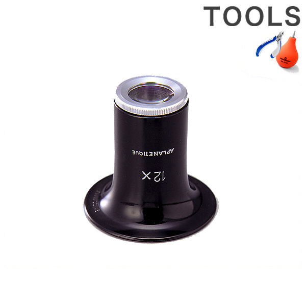 ASCO ルーペ Double Lens 12倍 F2ALD12