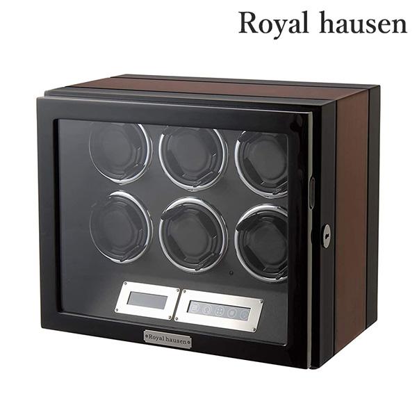 【今ならさらに+10倍でポイント最大26倍】 ロイヤルハウゼン ワインディングマシーン 6本巻き上げ 腕時計 GC03-L21EB Royal hausen ワインディングマシン ワインダー
