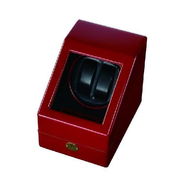 【25日は全品10倍にさらに+6倍でポイント最大29倍】 ワインディングマシン ワインダー 自動巻き腕時計用 2本巻き上げ 木製 LEDライト エスプリマ SE-20001 ワイン ワインディングマシーン