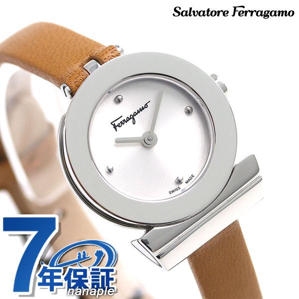 フェラガモ ガンチーニ 22.5mm レディース 腕時計 F43010017 Ferragamo ライトブラウン 時計【あす楽対応】