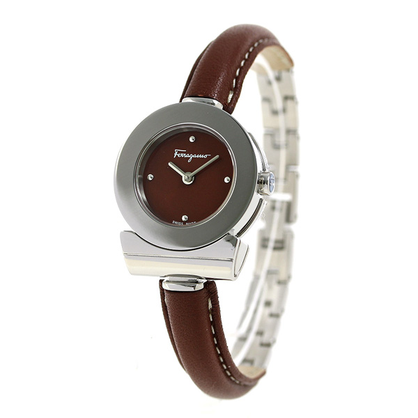 feragamoganchini 25.5mm女子的手錶FII040015 Salvatore Ferragamo棕色
