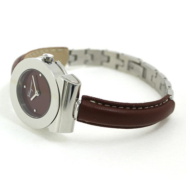 feragamoganchini 25.5mm女子的手表FII040015 Salvatore Ferragamo棕色