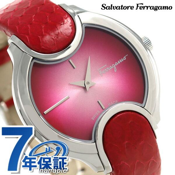 フェラガモ シグネチャー 38mm スイス製 腕時計 FIZ010015 Salvatore Ferragamo ピンク 時計【あす楽対応】