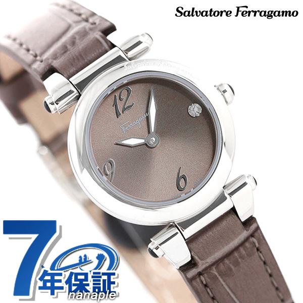 【今なら!店内ポイント最大51倍】 フェラガモ 時計 イディリオ 24.5mm ダイヤモンド レディース 腕時計 SFEY00219 Ferragamo グレー 革ベルト