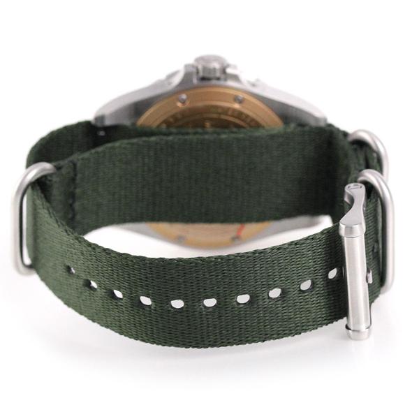 菲尔损失潜水员荷兰港43mm男子的20001748 FILSON手表黑色×绿色