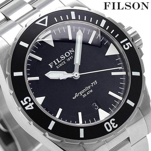 菲尔损失潜水员荷兰港43mm男子的20001749 FILSON手表黑色