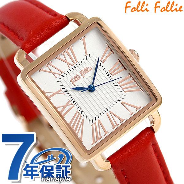 フォリフォリ レトロ スクエア クオーツ レディース 腕時計 WF16R012SPSDR Folli Follie 時計