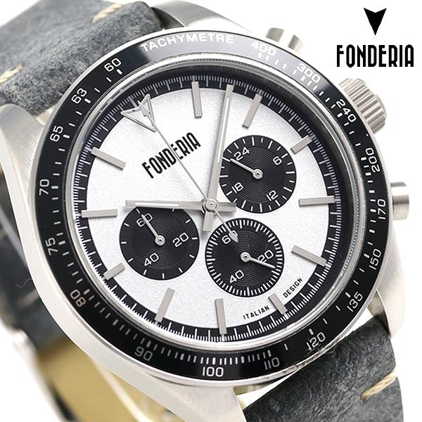 フォンデリア ソルトスピーダ― 41mm クロノグラフ 腕時計 9A011USN FONDERIA グレー 時計