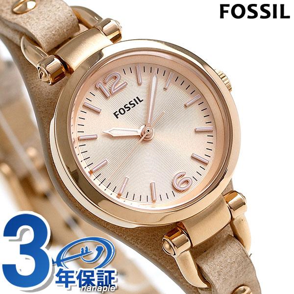 フォッシル ジョージア ミニ クオーツ レディース 腕時計 ES3262 FOSSIL ピンクゴールド 時計【あす楽対応】