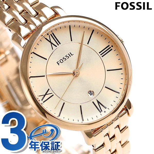 フォッシル ジャクリーン クオーツ レディース 腕時計 ES3435 FOSSIL ピンクゴールド 時計【あす楽対応】