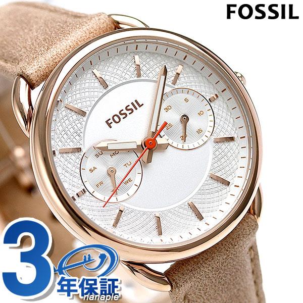 フォッシル テイラー クオーツ レディース 腕時計 ES4007 FOSSIL ホワイト×ベージュ 時計【あす楽対応】