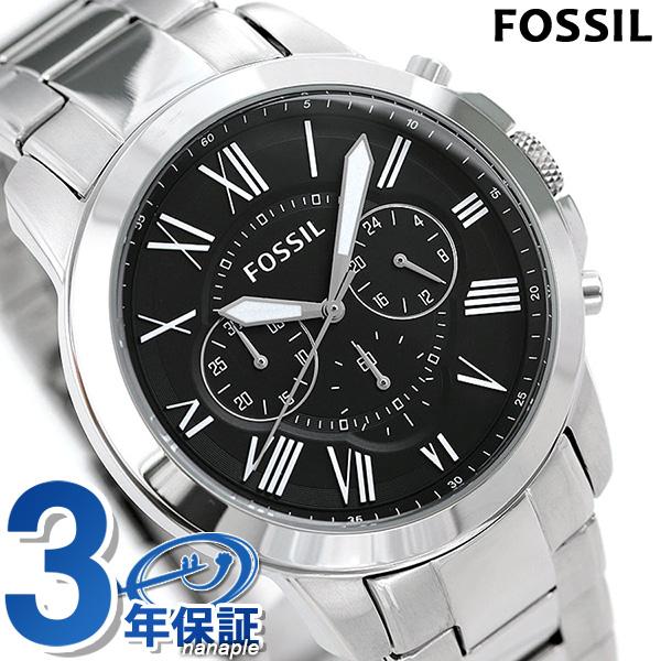 フォッシル 腕時計 メンズ クロノグラフ クオーツ 46mm ブラック FS4736IE FOSSIL グラント 時計【あす楽対応】