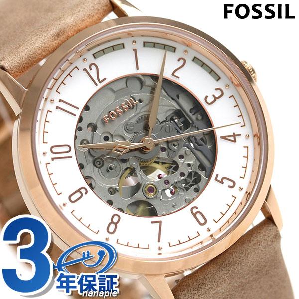 フォッシル ヴィンテージ ミューズ 40mm 自動巻き ME3152 FOSSIL 腕時計 スケルトン×ベージュ 時計【あす楽対応】