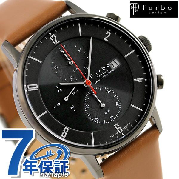 フルボ デザイン F761 ソーラー クロノグラフ 腕時計 F761-GBKLB Furbo Design ブラック 時計